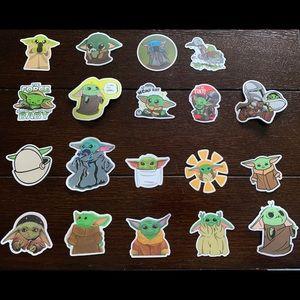 9 Baby Yoda Stickers